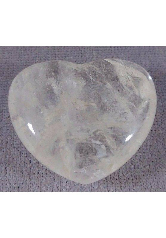 HEART in Hyaline Quartz Rock CRYSTAL Massage LOVE Crystal Healing Zen-1