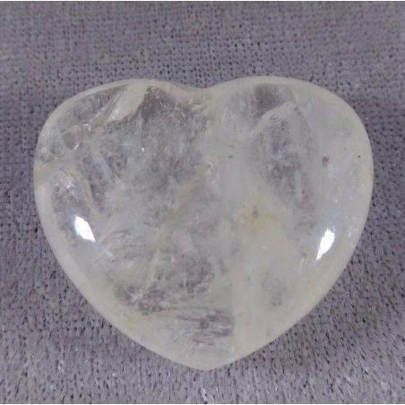 HEART in Hyaline Quartz Rock CRYSTAL Massage LOVE Crystal Healing Zen−3