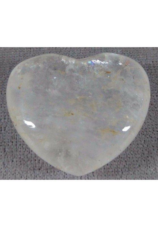 HEART in Hyaline Quartz Rock CRYSTAL Massage LOVE Crystal Healing Zen-4