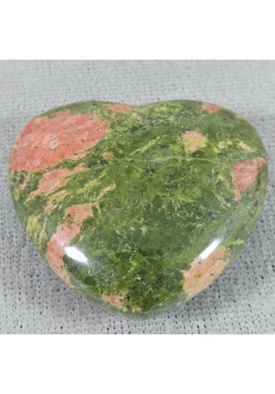 HEART in UNAKITE Tumbled Stone Massage Chakra LOVE Crystal Healing VALENTINE'S DAY-1