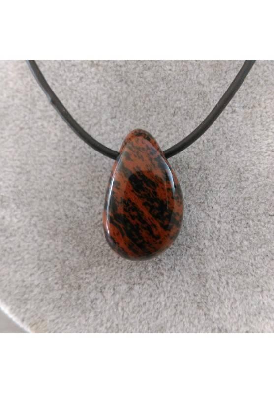 Pendant Bead in Mahogany Jasper RED Necklace Crystal Healing Chakra Energy-1