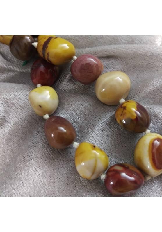 Necklace PEARL in Mookaite Jasper Crystal Healing Chakra Jewel MINERALS Reiki-4