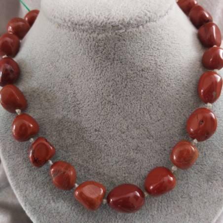 Necklace PEARL in Red Jasper Crystal Healing Chakra Jewel MINERALS Chakra-2