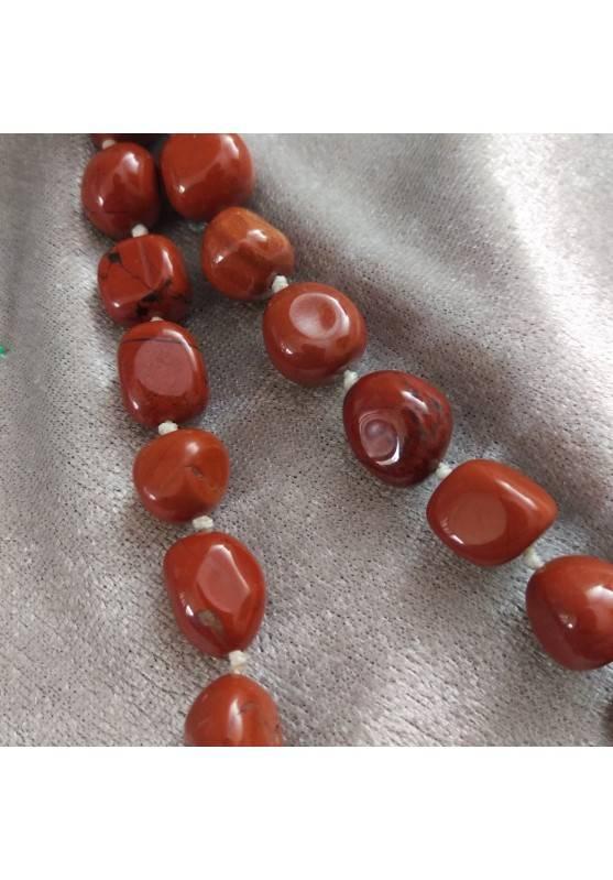 Necklace PEARL in Red Jasper Crystal Healing Chakra Jewel MINERALS Chakra-4