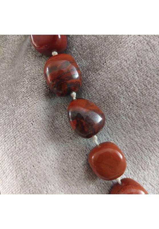 Collana Perle di Diaspro Rosso Cristalloterapia Chakra Gioiello Minerale Chakra-5