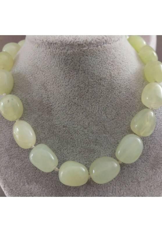 Necklace PEARL in JADE Pendant Crystal Healing Chakra Jewel MINERALS Reiki-1