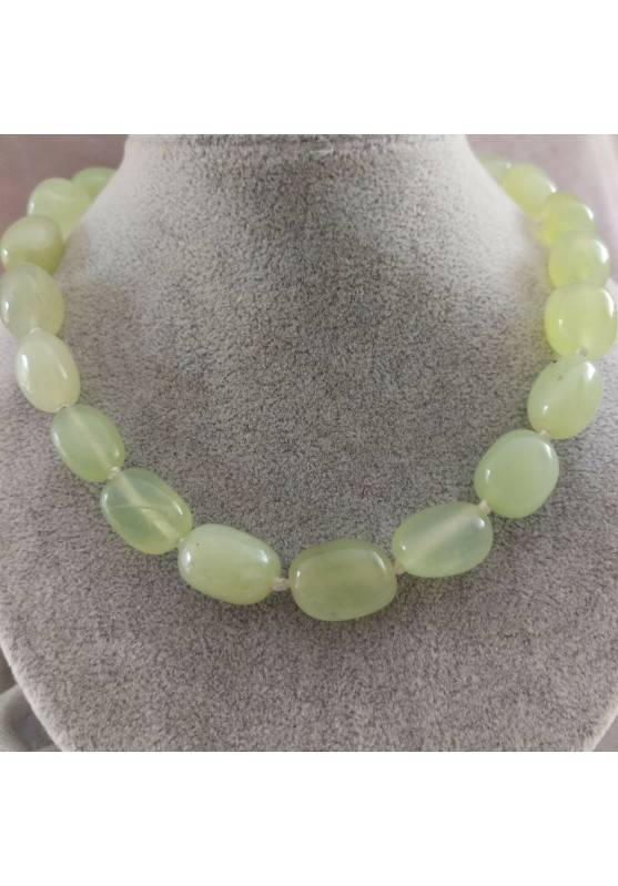 Necklace PEARL in JADE Pendant Crystal Healing Chakra Jewel MINERALS Reiki-2