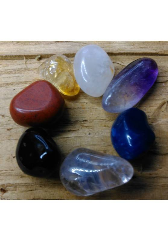 "Mini - Kit Crystal Healing 7 Stones Portable "" Seven Chakra Stones Slim ""-1"