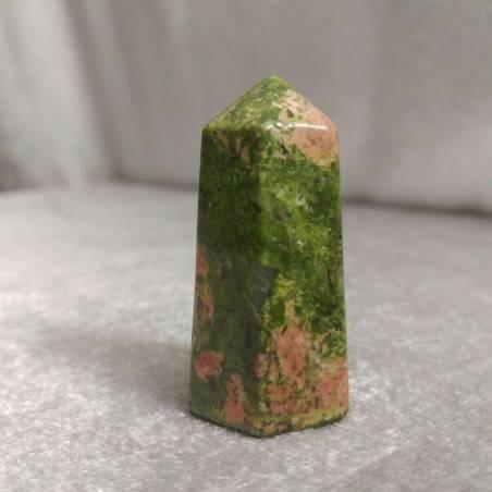 Hexagonal Obelisk in UNAKITE Tumbled Stone Crystals Crystal Healing MINERALS-2