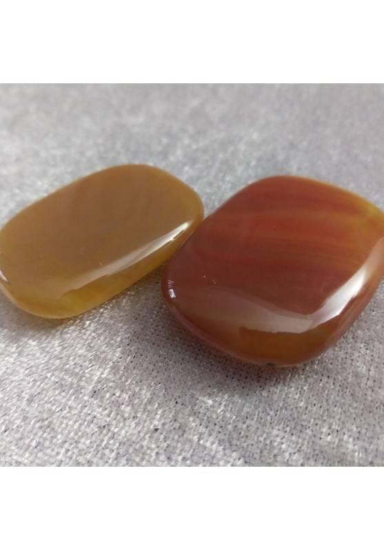 Palmstone Tumbled Stone CARNELIAN Massage Plate Pendant Chakra Crystal Healing-1
