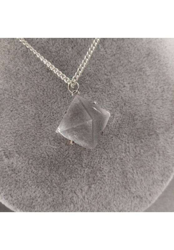 Pendant PYRAMID of Hyaline Quartz Rock CRYSTAL Necklace Crystal Healing-2