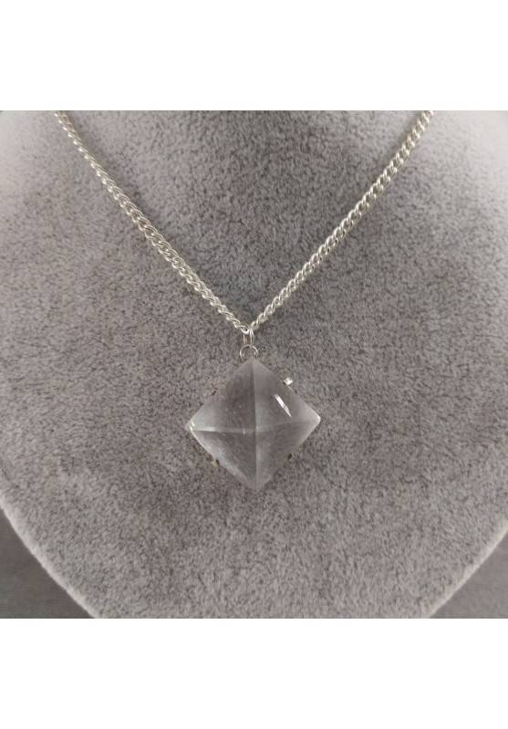 Pendant PYRAMID of Hyaline Quartz Rock CRYSTAL Necklace Crystal Healing-4