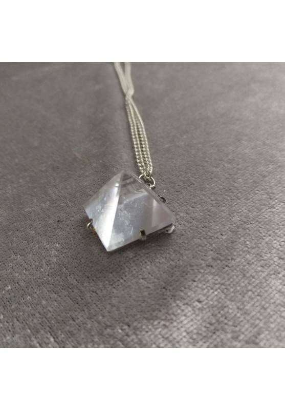 Pendant PYRAMID of Hyaline Quartz Rock CRYSTAL Necklace Crystal Healing-5