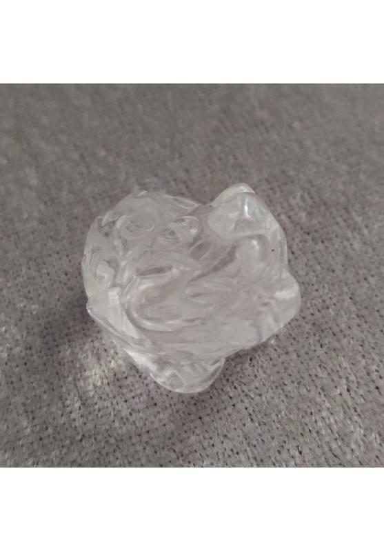 Frog in Hyaline Quartz Rock CRYSTAL ANIMALS Crystal Healing Fengh Shui A+-4