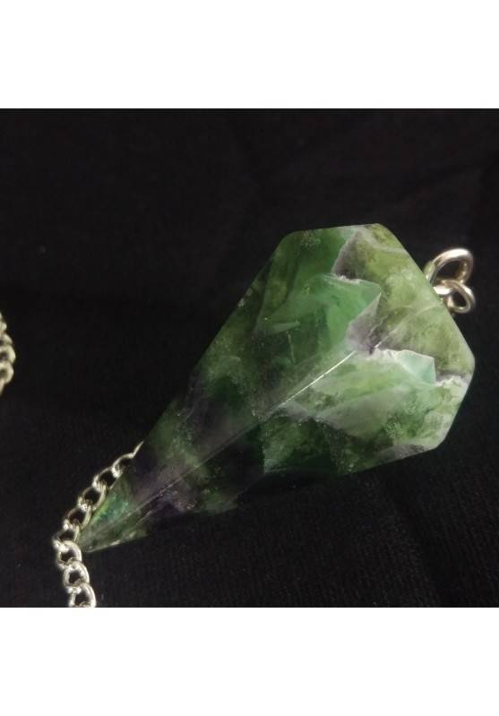Professional Pendulum in FLUORITE Divination Crystals Chakra Meditation Silver-8