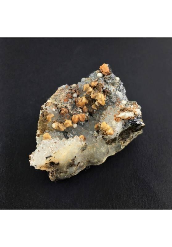 * Minerali Storici * Pietra Dolomite con Quarzo Galena calcopirite - Miniera Vignola-2