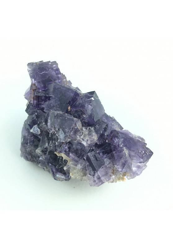 * Minerali Storici * Cristalli di FLUORITE Cubiche di Berbes - Minerale Viola-2