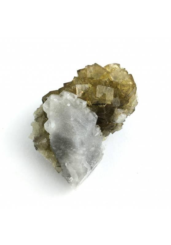 * Minerali Storici * Cristalli di FLUORITE con CALCITE - Miniera Moscona Qualità-1