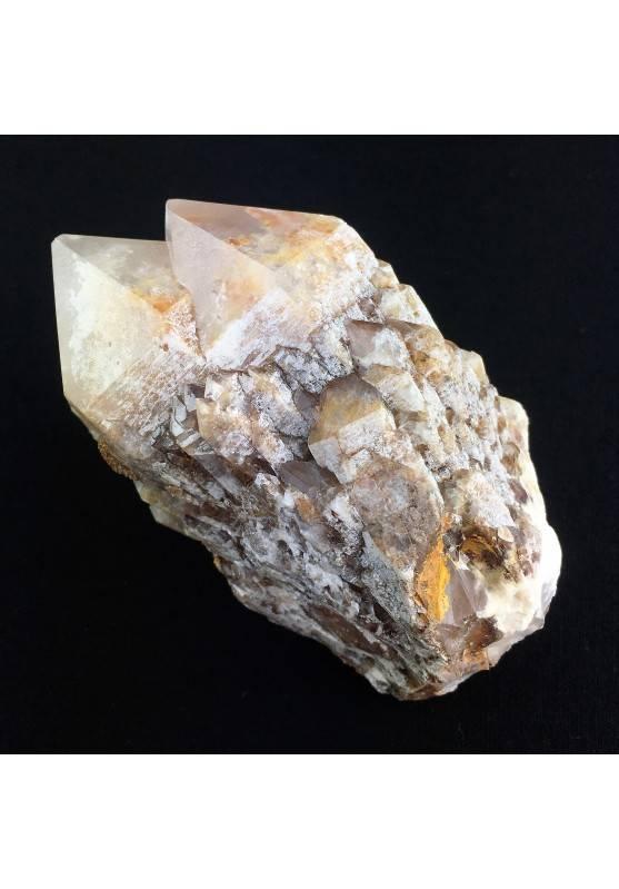 * MINERALI * Doppia Punta in QUARZO IALINO Geminato GIGANTE Cristallo di Rocca-2