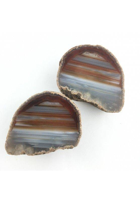 Brown AGATE GEODE Pair Couple Crystal Healing High Quality A+ Purification-1