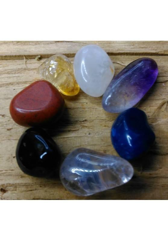 """Mini - Kit Crystal Healing 7 Stones Portable """" Seven Chakra Stones Slim """"-1"""