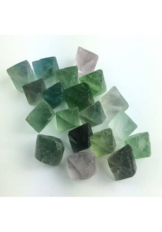 Fluorite Grezza Ottaedrica Multicolore Lucida Chakra Cristalloterapia Reiki-1
