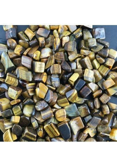 Mini Tumbled Stones in Tiger's EYE 50gr Orgone Orgonite Crystal Healing Chakra A+-1