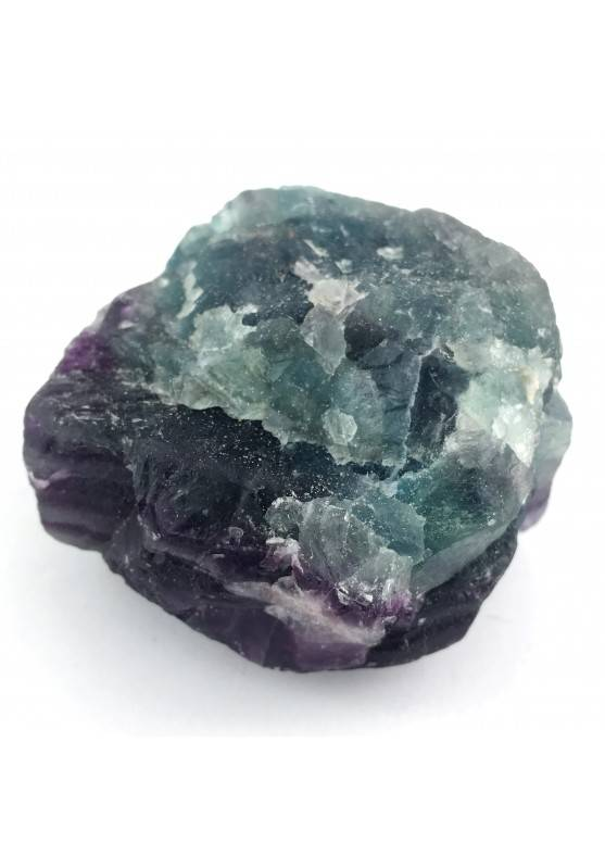 LARGE Piece in RAINBOW FLUORITE Green - Purple Specimen Crystal Healing Zen-1