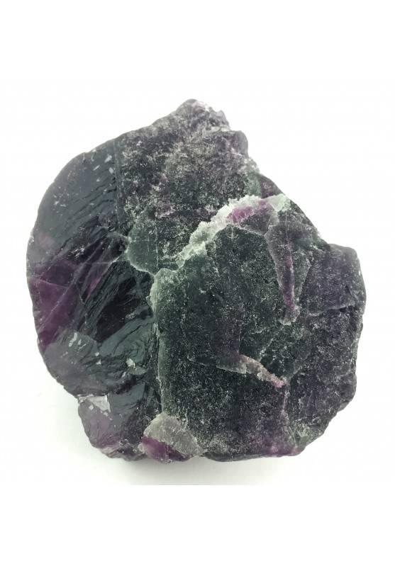 GRANDE pezzo di FLUORITE MISTA Verde - Viola Collezionismo Cristalloterapia Zen-2