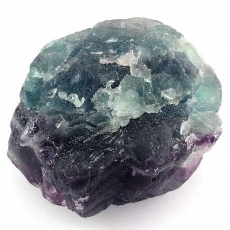 LARGE Piece in RAINBOW FLUORITE Green - Purple Specimen Crystal Healing Zen-3