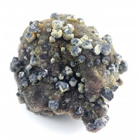 Sphalerite Gems in Crystalized Quartz Specimen Chakra Reiki Zen Healing Stone A+-3