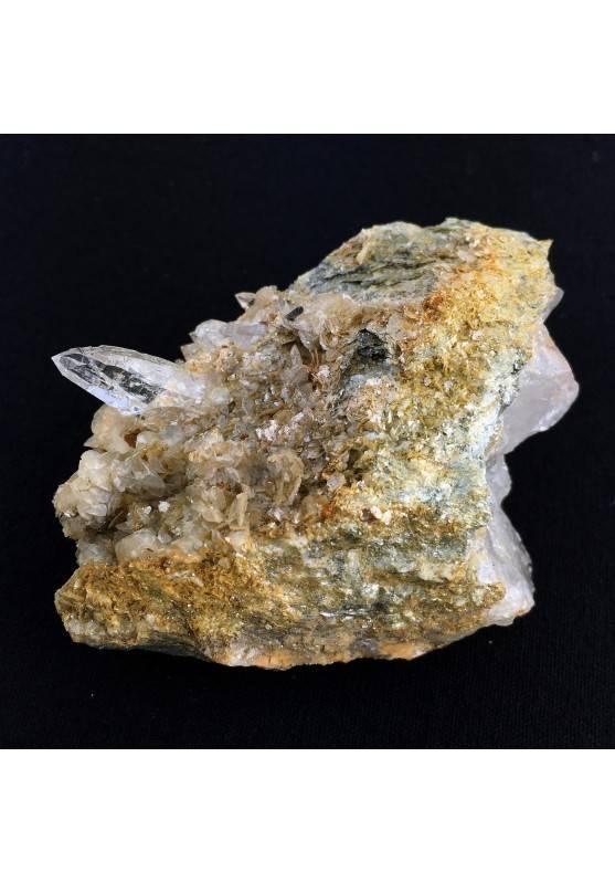 MINERALI Quarzo Ialino Rutilo Val Cristallina Qualità A+ cm.8 x cm.5 x cm.3-1