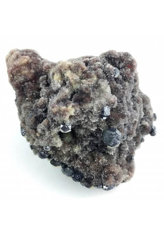 Gemme di SFALERITE su QUARZO Cristallizzato Collezionismo Chakra Zen Qualità A+-2