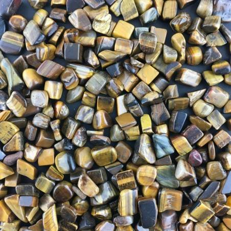 Mini Tumbled Stones in Tiger's EYE 100gr Orgone Orgonite Crystal Healing Reiki A+-1