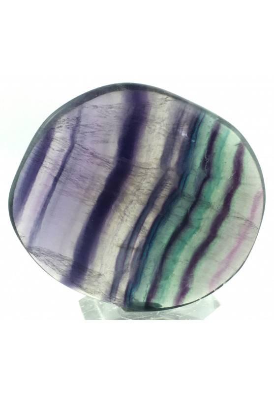 SAPONETTA in FLUORITE Viola - Verde Fluorite Palmstone Cristalloterapia Piastra-2