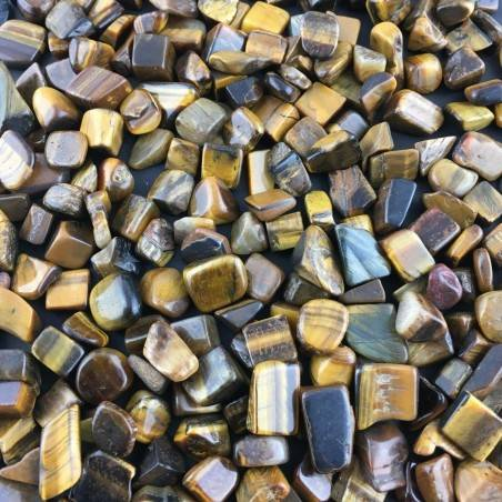 Mini Tumbled Stones in Tiger's EYE 100gr Orgone Orgonite Crystal Healing Reiki A+-2
