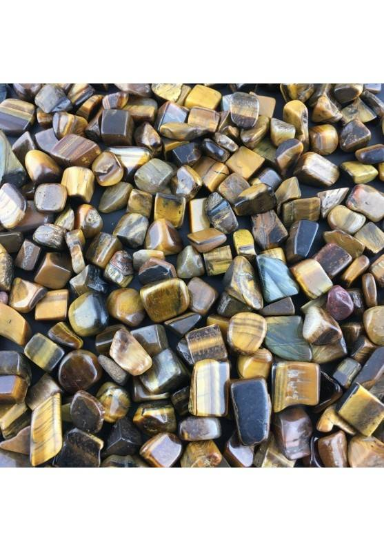 Mini Tumbled Stones in Tiger's EYE 250gr Orgone Orgonite Crystal Healing MINERALS-1