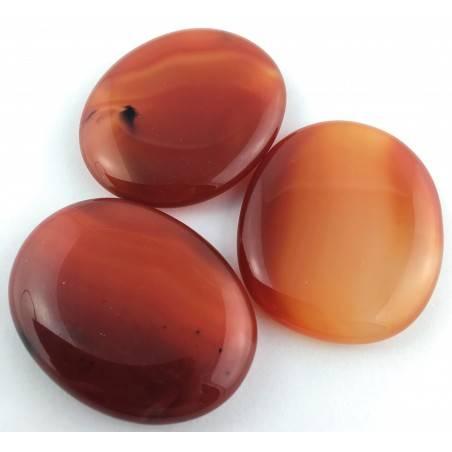 Palmstone in CARNELIAN AGATE Palmstone Carnelian Crystal Healing Plate Chakra-1