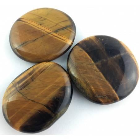Palmstone in Tiger's EYE Palmstone Crystal Healing Tiger Eye Plate Chakra-1