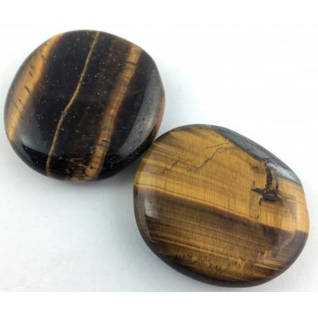 Palmstone in Tiger's EYE Palmstone Crystal Healing Tiger Eye Plate Chakra-2