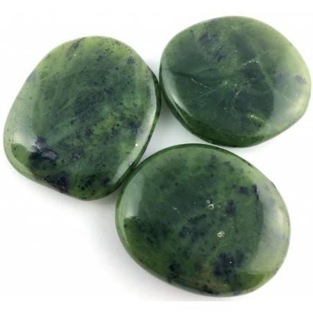 SAPONETTA in GIADA NEFRITE Burattata Palmstone Cristalloterapia Jade Nephrite-1