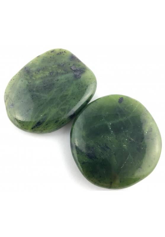 SAPONETTA in GIADA NEFRITE Burattata Palmstone Cristalloterapia Jade Nephrite-2