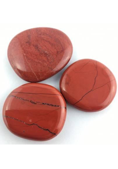 SAPONETTA in DIASPRO ROSSO Burattato Palmstone Cristalloterapia Red Jasper Zen-1