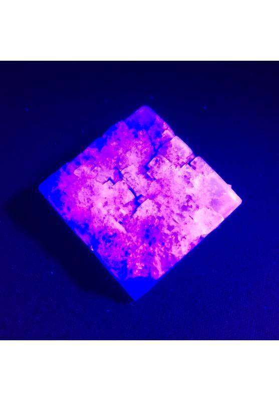* MINERALS * Purple Fluorite Cubic Fluorescent Minerals & Specimens High Quality A+-2