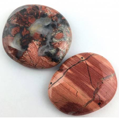 Palmstone in RED Brecciated JASPER Tumbled Palmstone Crystal Healing Chakra-2