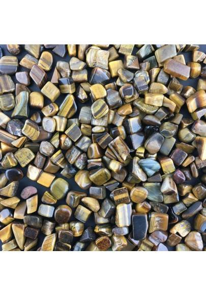 Mini Tumbled Stones in Tiger's EYE 500gr Orgone Orgonite Crystal Healing Quality-1
