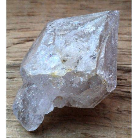 * MINERALS * Double Terminated QUARTZ Rock CRYSTAL A+ Crystal Healing-1