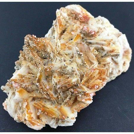 BARITE Lamellare su MATRICE con Cristalli di VANADINITE Grezza Collezionismo-1