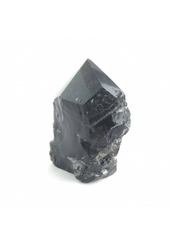 * MINERALS * Black Obsidian Polished Point 153g High Quality A+-1