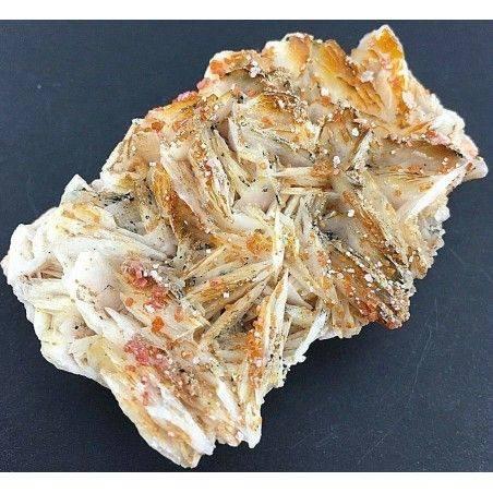 BARITE Lamellare su MATRICE con Cristalli di VANADINITE Grezza Collezionismo-2